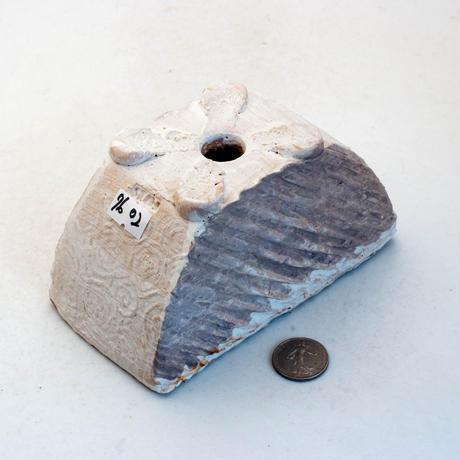 陶器製 多肉植物の欲しがる植木鉢 HMc-7602ブラウン