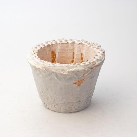 陶器製(2号ポット相当)多肉植物の欲しがる植木鉢  AAScd-6226ブルー