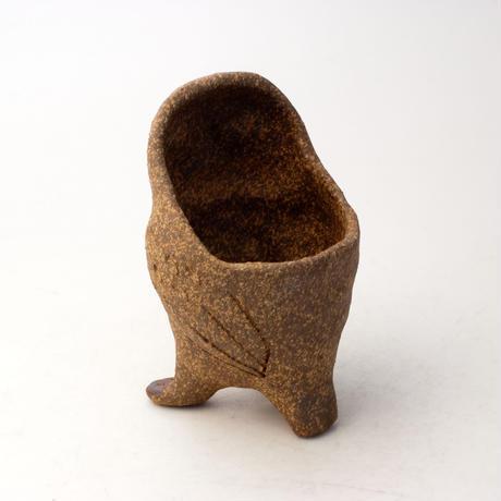 泰木窯 陶器製 フクロウ鉢 12105