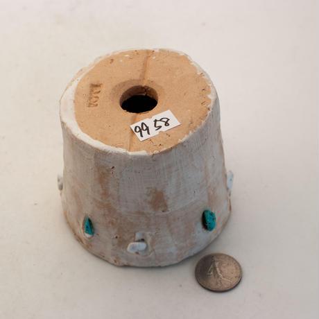 陶器製(2号ポット相当)多肉植物の欲しがる植木鉢 SSSdパワーストーン-9958