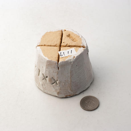 陶器製(2号ポット相当)多肉植物の欲しがる植木鉢 PR c-xxix-6111グリーン