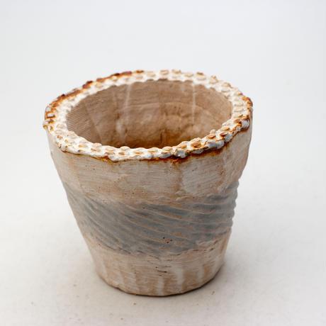 陶器製(2.5号ポット相当)多肉植物の欲しがる植木鉢 NSSc-9180ブルー