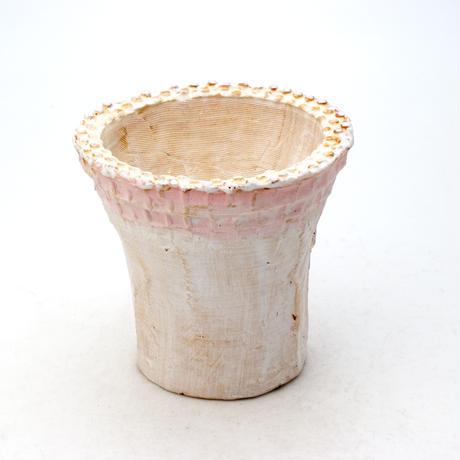 陶器製 多肉植物の欲しがる植木鉢 ICMc-7505ピンク