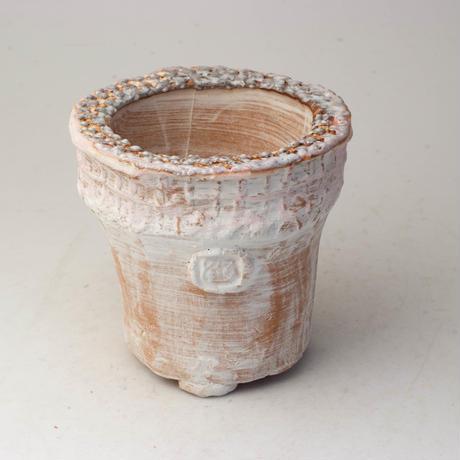 陶器製(2号ポット相当)多肉植物の欲しがる植木鉢 AAMcd-2757ピンク