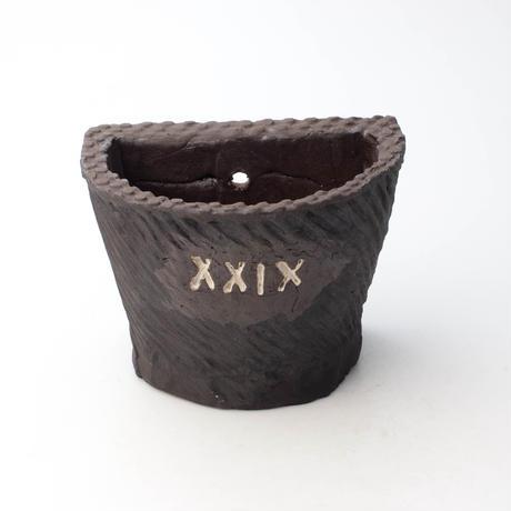 陶器製 多肉植物の欲しがる植木鉢 HPc-XXIXブラック-4918