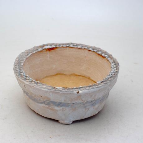 陶器製 多肉植物の欲しがる植木鉢 AQSScd -8695ブルー