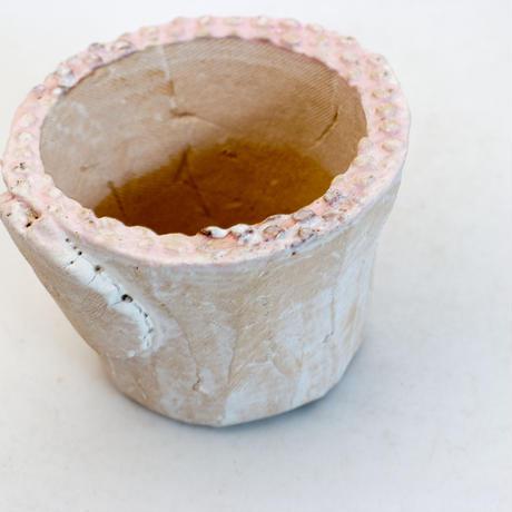 陶器製(2号ポット相当)多肉植物の欲しがる植木鉢  AAScd-9878ピンク