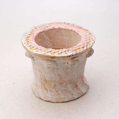 陶器製(2号ポット相当)多肉植物の欲しがる植木鉢 SSScd-7891ピンク