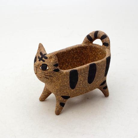 泰木窯 陶器製 ネコ鉢  4253