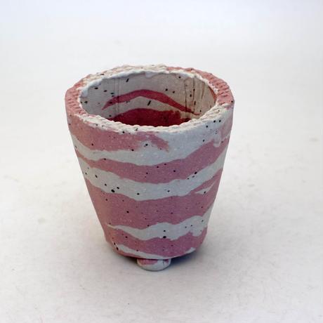 陶器製(2号ポット相当) 植木鉢 AAMcdミカゲ-8868ピンク