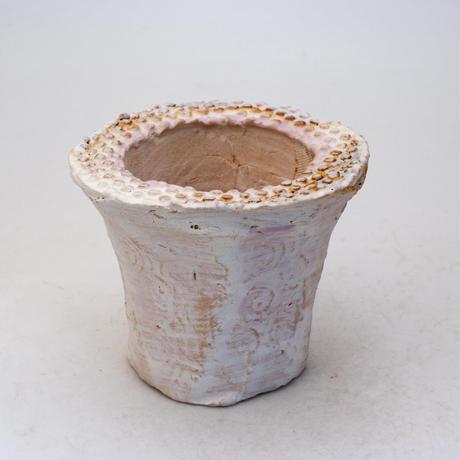陶器製(2号ポット相当)多肉植物の欲しがる植木鉢 AAMcd-7767パープル