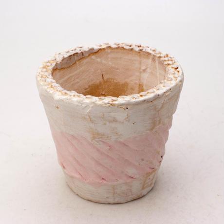 陶器製(2.5号ポット相当)多肉植物の欲しがる植木鉢 NSSc-7888ピンク