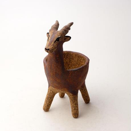 泰木窯 陶器製 インパラ鉢 121012