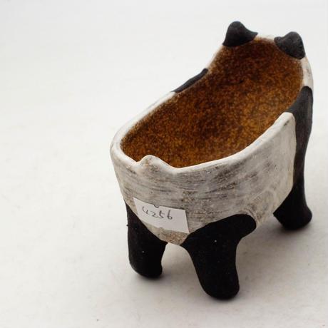 泰木窯 陶器製 パンダ鉢  4256