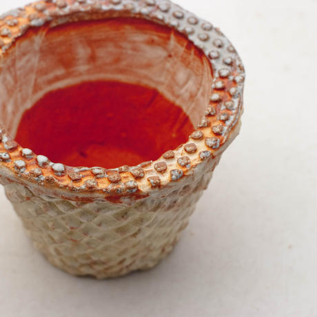 陶器製(2.5号ポット相当)多肉植物の欲しがる植木鉢 SMSc- 9172イエロー