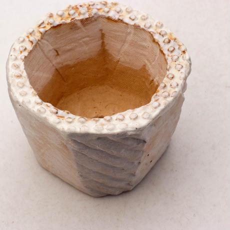 陶器製(2号ポット相当)多肉植物の欲しがる植木鉢 KESc-7886ブルーグリーン