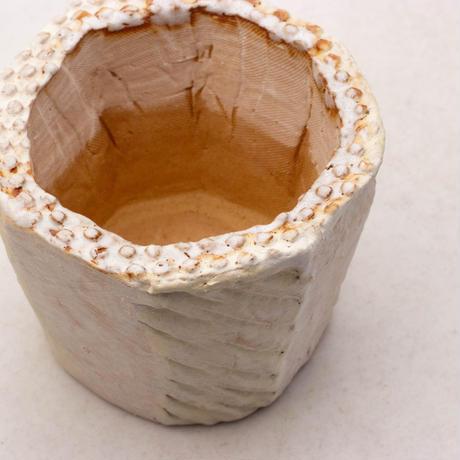 陶器製(2-2.5号ポット相当)多肉植物の欲しがる植木鉢 KEMc-7880イエロー