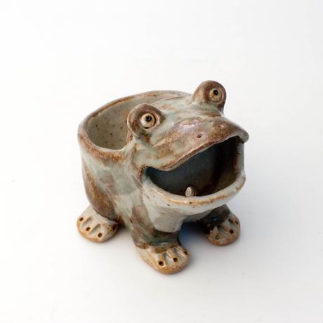 泰木窯 陶器製 カエル鉢 (小)#8