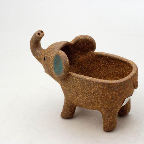 泰木窯 陶器製 ゾウ鉢  4258