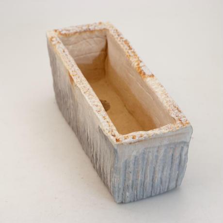 陶器製 多肉植物の欲しがる植木鉢 AEEc-9955 ブルー