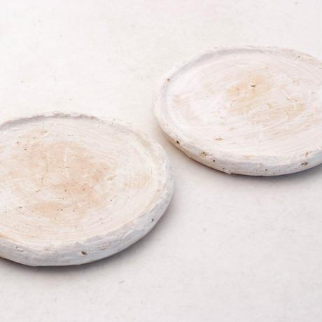陶器製(2.5号ポット相当)多肉植物の欲しがる植木鉢 皿M-2枚組無破水-7902