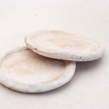 陶器製(2号ポット相当)多肉植物の欲しがる植木鉢 皿S-2枚組無破水- 7895