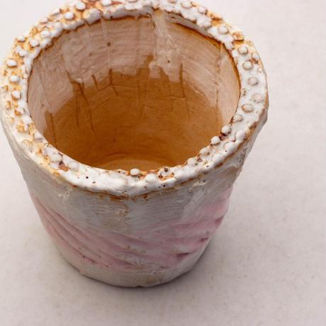 陶器製(2.5号ポット相当)多肉植物の欲しがる植木鉢 NSSc-7889ピンク