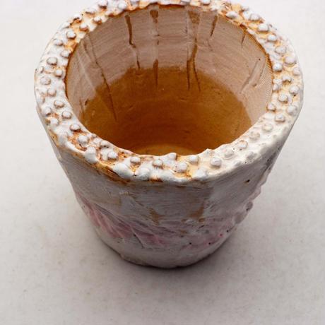 陶器製(2.5号ポット相当)多肉植物の欲しがる植木鉢 NSSc-ピンク8223