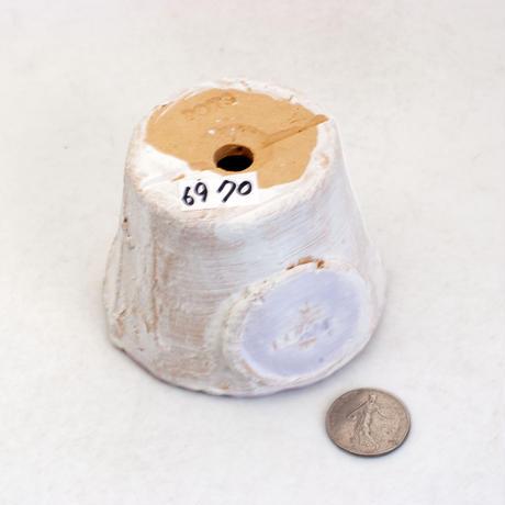 陶器製(2号ポット相当)多肉植物の欲しがる植木鉢  AAScd-パープル6970