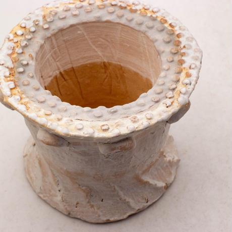 陶器製(2号ポット相当)多肉植物の欲しがる植木鉢 SSScd-7892ブルーグリーン