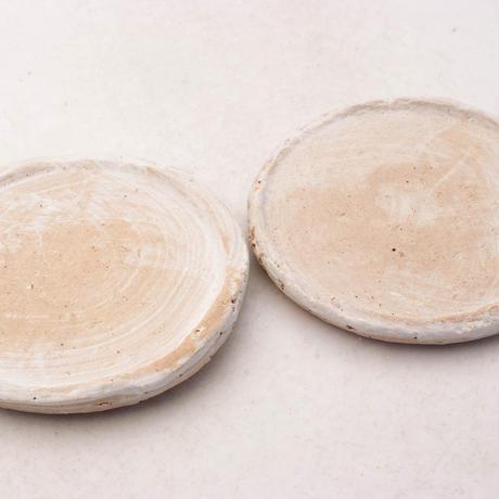 陶器製(2.5号ポット相当)多肉植物の欲しがる植木鉢 皿M-2枚組無破水-7901