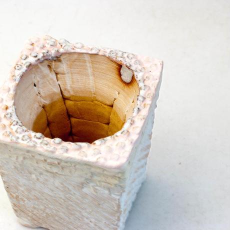 陶器製1.5号相当 多肉植物の欲しがる植木鉢 ICScd角-2097ピンク