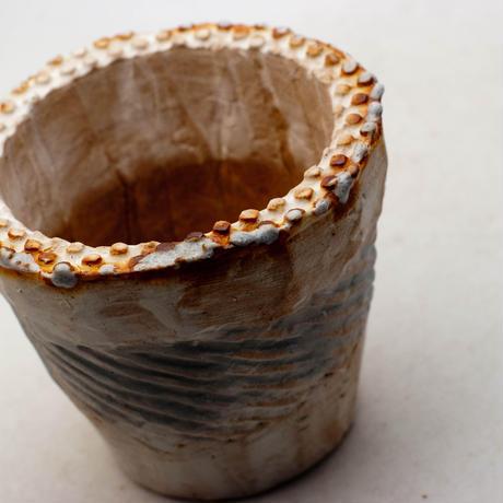 陶器製(2.5号ポット相当)多肉植物の欲しがる植木鉢 NSSc-9181ブルー