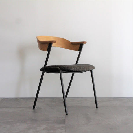 """a depeche"" danis short arm chair NA - chacole mosh brown -"