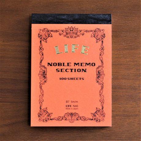 NOBLE MEMO B7 series -RED 方眼-