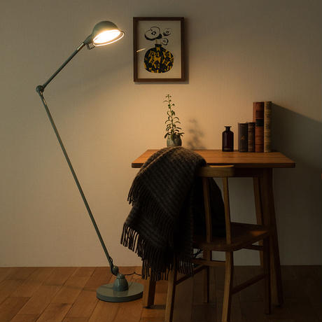 TURKU FLOOR LAMP L -sax gray-