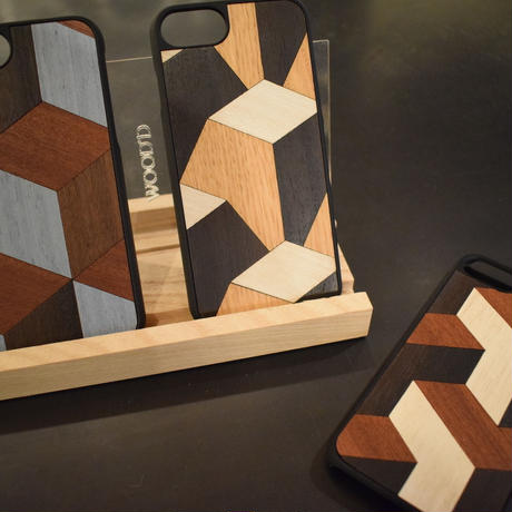 WOOD'D iPhone Case Block/Pyramid/Tumble