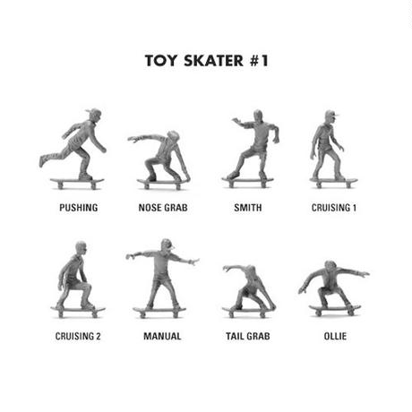 "Toy Boaders ""toy skater#1""  -slate gray-"