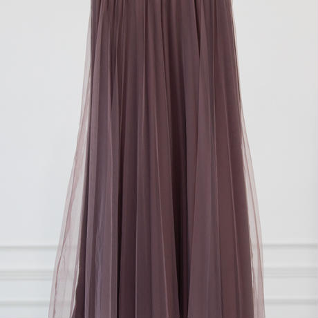 チュール&ベロアリバーシブルスカート