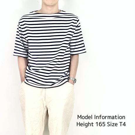 OUESSANT SHORT SLEEVE SHIRTS [ NEIGE/MARIN(WHNY) ] 03JC1325