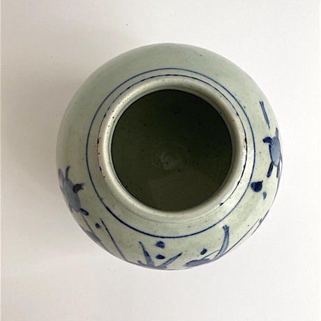 吉田崇昭 染付花文花器