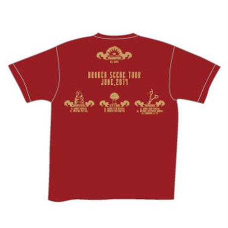 BROKEN SCENE TOUR Tシャツ/バーガンディ
