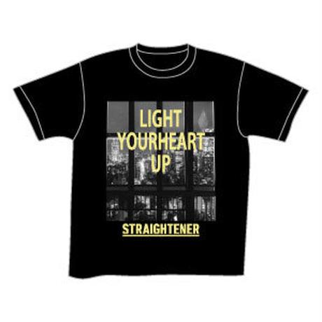 LIGHT YOURHEART UP Tee/ブラック