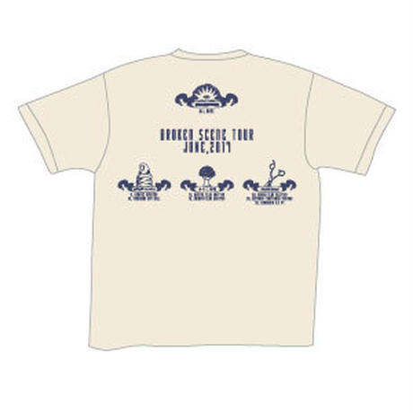 BROKEN SCENE TOUR Tシャツ/ナチュラル