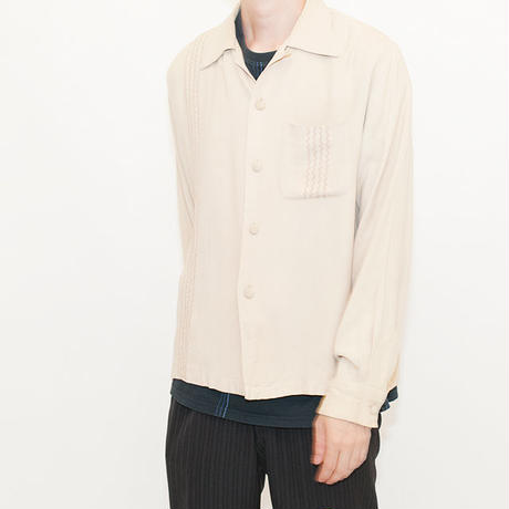 Vintage Open-Collared Shirt