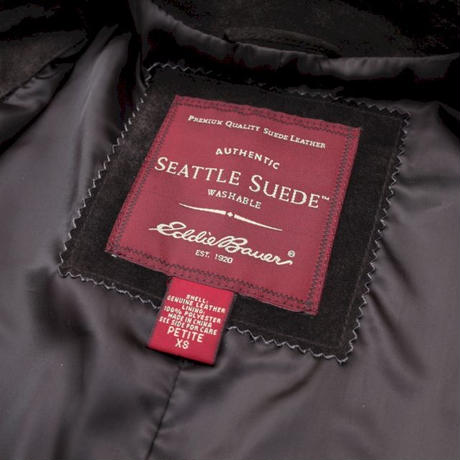 Eddie Bauer Suede Leather Coat