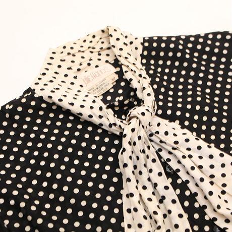 Silk Bow Tie Blouse