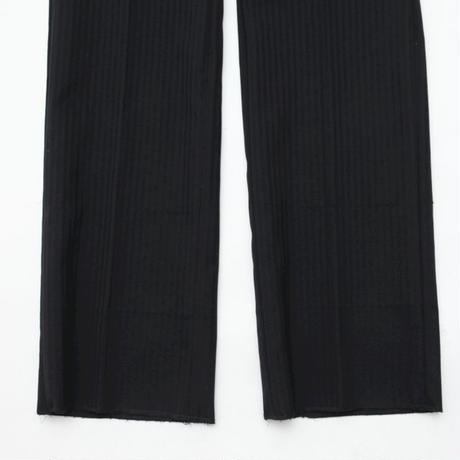 Stripe Slim Straight Slacks