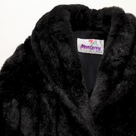 Black Fake Fur Coat