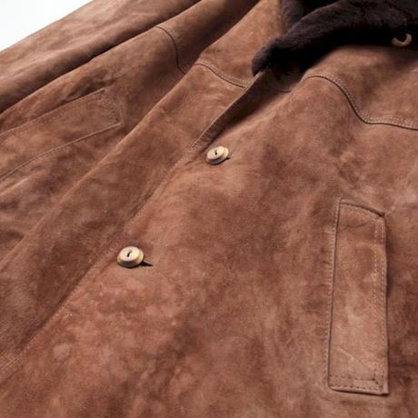 Vintage Nuback Boa Coat